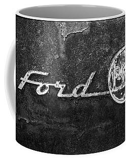 Ford F-100 Emblem On A Rusted Hood Coffee Mug