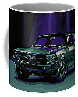 Ford Mustang 1967 Painting Coffee Mug