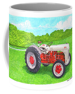 Coffee Mug featuring the painting Ford Tractor 1941 by Jack Pumphrey