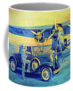 Ford Trimotor And 1931 Model A Roadster Coffee Mug
