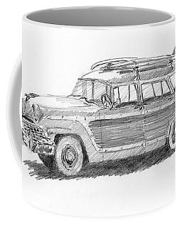 Ford Wagon Sketch Coffee Mug