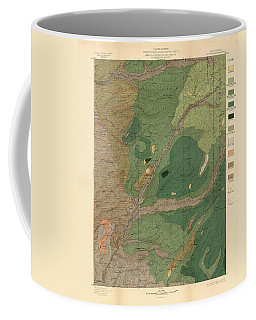 Forest Cover Map 1886-87 - Big Trees Quadrangle - California - Geological Map Coffee Mug