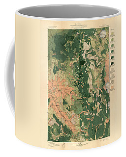 Forest Cover Map 1886-87 - Oregon Ashland Quadrangle - Geological Map Coffee Mug
