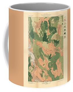 Forest Cover Map 1886-87 - Oregon Klamath Quadrangle - Geological Map Coffee Mug