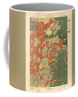 Forest Cover Map 1886-87 - Roseburg Quadrangle - Oregon - Geological Map Coffee Mug