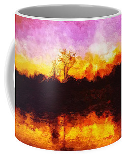 Coffee Mug featuring the painting Forest Fire by Mark Taylor