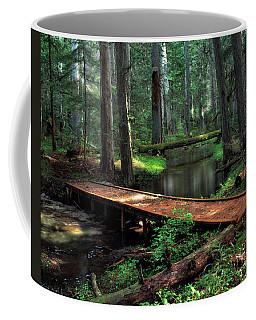 Forest Foot Bridge Coffee Mug by Leland D Howard