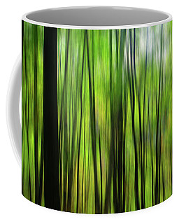 Forest Green Abstract Coffee Mug