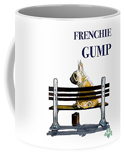 Forest Gump French Bulldog Caricature Art Print Coffee Mug
