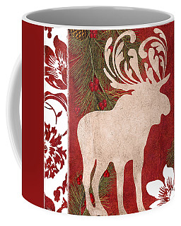 Forest Holiday Christmas Moose Coffee Mug