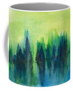 Coffee Mug featuring the painting Forest Lake by Frank Bright