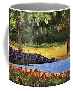 Coffee Mug featuring the painting Forest Lake by Jamie Frier