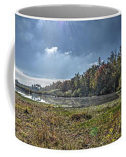 Forest Lake In Autumn Coffee Mug