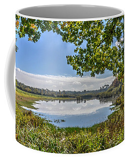 Forest Lake Through The Trees Coffee Mug