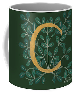 Forest Leaves Letter C Coffee Mug