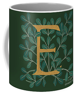 Forest Leaves Letter E Coffee Mug