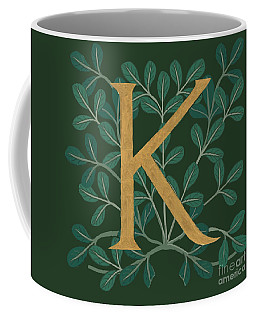 Forest Letter K Coffee Mug