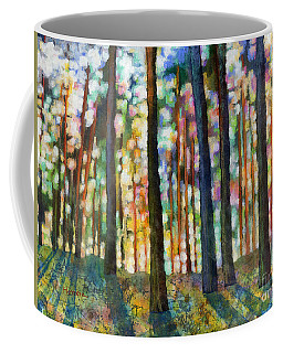 Coffee Mug featuring the painting Forest Light by Hailey E Herrera