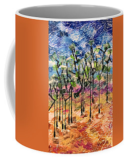 Coffee Mug featuring the painting Forest by Norma Duch