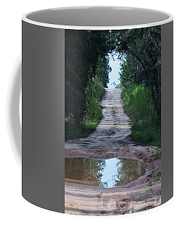 Forest Road And Puddle Coffee Mug