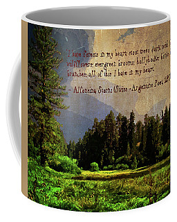 Forests In My Heart Coffee Mug by Timothy Bulone