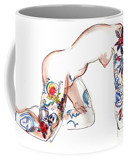 Forever Amber - Tattoed Nude Coffee Mug
