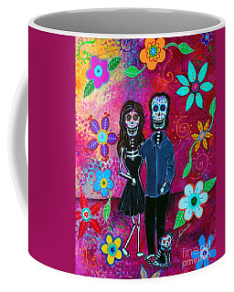 Coffee Mug featuring the painting Forever Love by Pristine Cartera Turkus