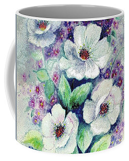 Forget-me-knots And Roses Coffee Mug by Hazel Holland