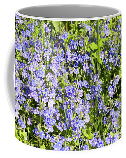 Forget-me-not - Myosotis Coffee Mug by Irina Afonskaya