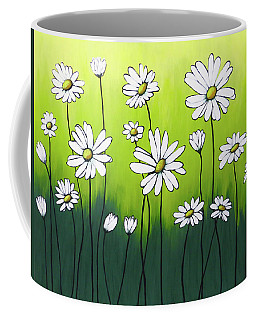 Coffee Mug featuring the painting Daisy Crazy by Teresa Wing