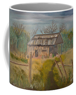 Forgotten And Misty Country Shed Coffee Mug