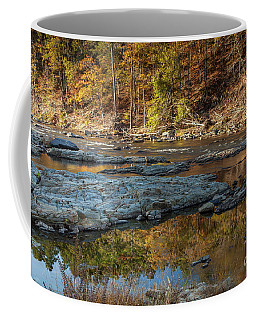 Coffee Mug featuring the photograph Fork River Reflection In Fall by Iris Greenwell