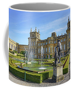 Coffee Mug featuring the pyrography Formal Garden Blenheim Palace by Joe Winkler