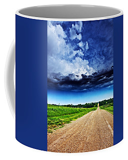 Forming Clouds Over Gravel Coffee Mug