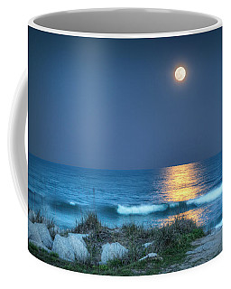 Fort Fisher Moonbeam Coffee Mug by Phil Mancuso
