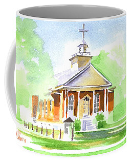 Coffee Mug featuring the painting Fort Hill Methodist Church 2 by Kip DeVore