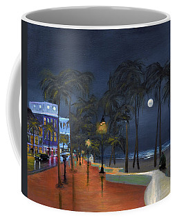 Fort Lauderdale Beach At Night Coffee Mug