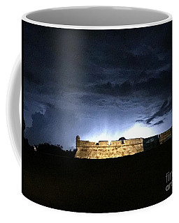 Lightening At Castillo De San Marco Coffee Mug
