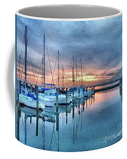 Coffee Mug featuring the photograph Fort Monroe Afire by Linda Mesibov