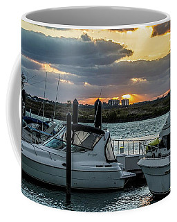 Fort Pierce Marina Coffee Mug by Nance Larson