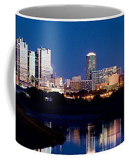 Fort Worth Skyline At Night Poster Coffee Mug
