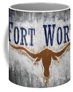 Coffee Mug featuring the digital art Fort Worth Texas Flag by JC Findley