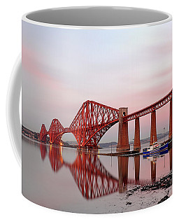 Coffee Mug featuring the photograph Forth Railway Bridge Sunset by Grant Glendinning