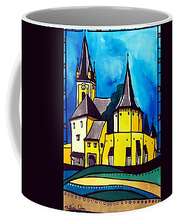 Fortified Medieval Church In Transylvania By Dora Hathazi Mendes Coffee Mug