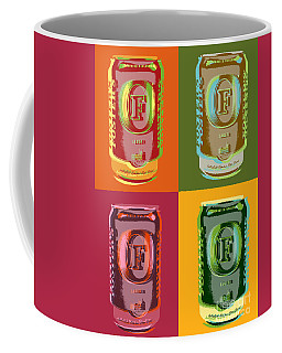 Coffee Mug featuring the digital art Foster's Lager Pop Art by Jean luc Comperat