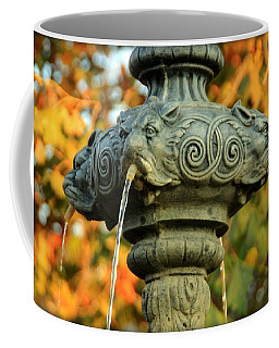 Coffee Mug featuring the photograph Fountain At Union Park by Chris Berry