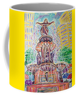 Coffee Mug featuring the painting Fountain Square  Cincinnati  Ohio by Diane Pape