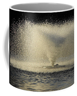 Fountain Tornado Illuminating The Shadow Coffee Mug