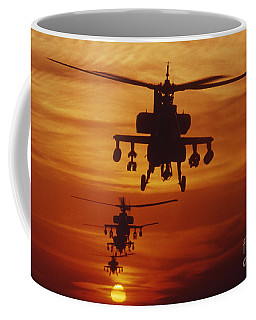 Coffee Mug featuring the photograph Four Ah-64 Apache Anti-armor by Stocktrek Images