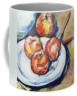 Four Apples And A Knife Cezanne Interpretation Coffee Mug